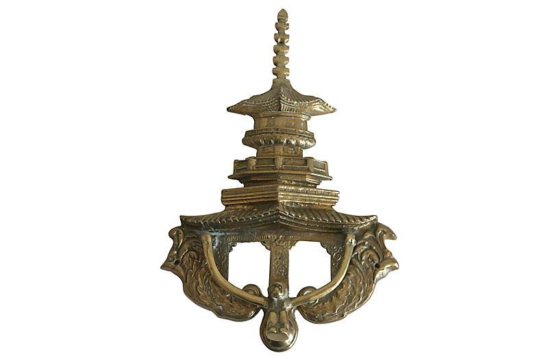 Oversize Pagoda & Monkey Door Knocker