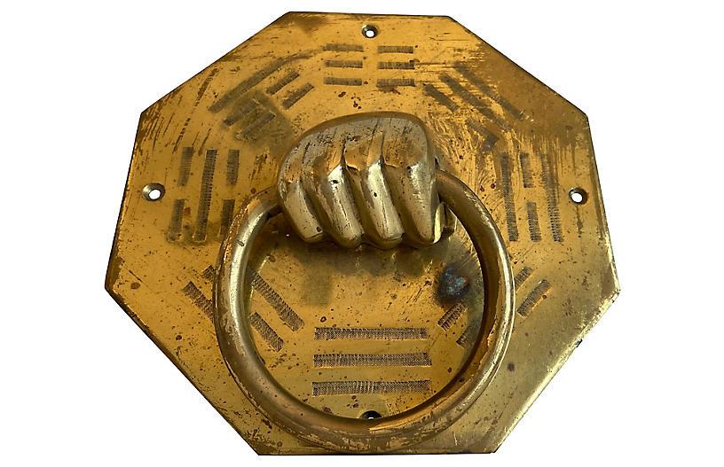 1960s Hand Door Knocker
