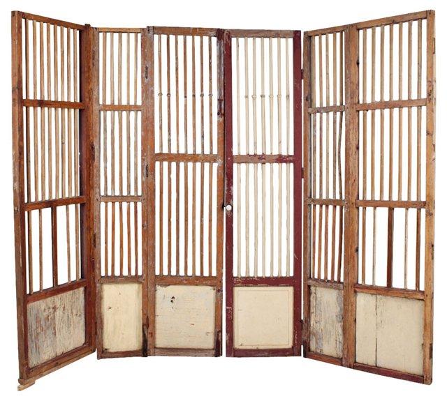 19th-C. Spanish Colonial Screen/Gate