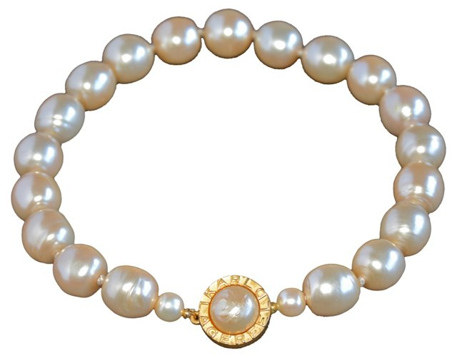 1980s Karl Lagerfeld Faux-Pearl Necklace