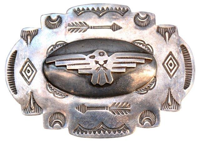 1920s Navajo Silver Thunderbird Brooch