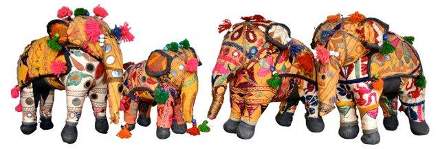 Elephants, Set of Four