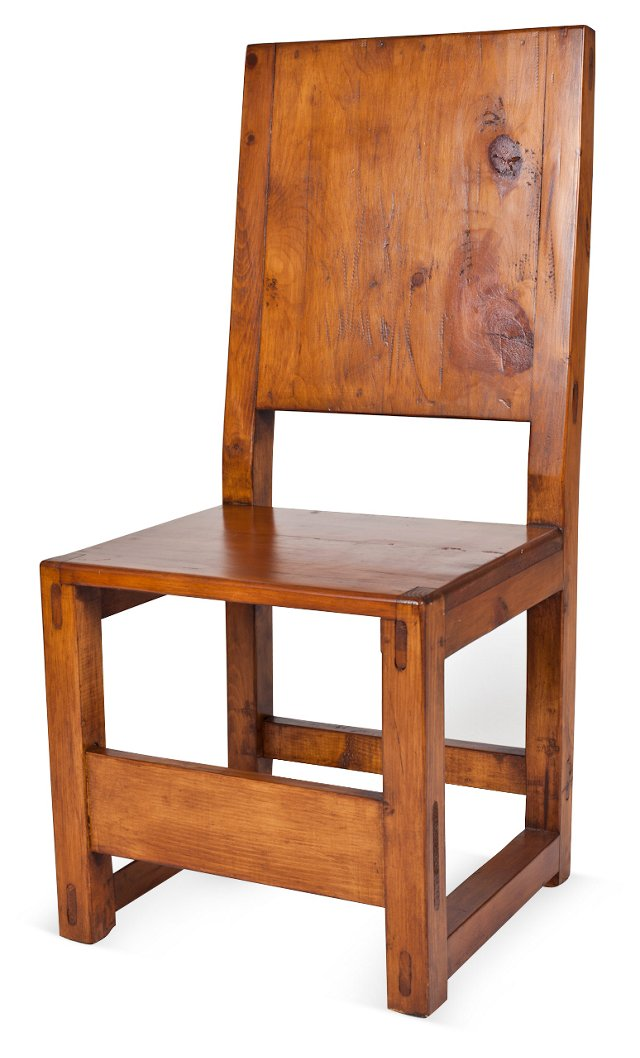 Spanish Colonial-Style Pine Chair