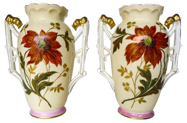 Limoges Vases, Pair