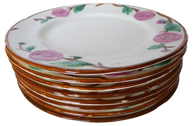 California Camellia Dinner Plates, S/8