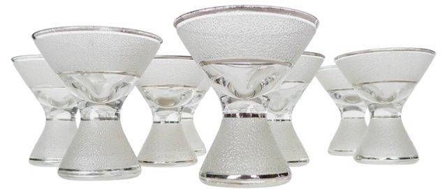 Mid-Century Modern Bar Glasses, S/10