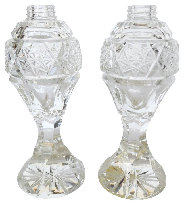 Victorian Cut-Crystal Salt & Pepper