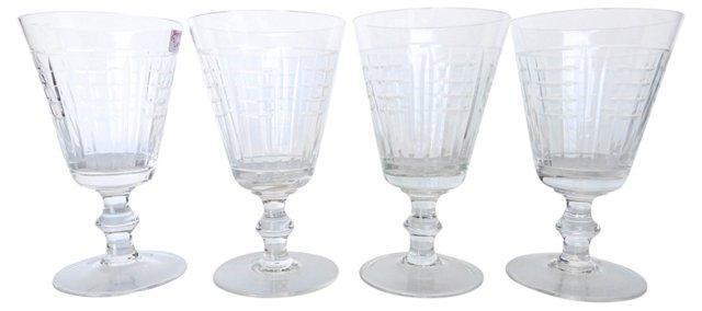 Crystal Wine Glasses, S/4