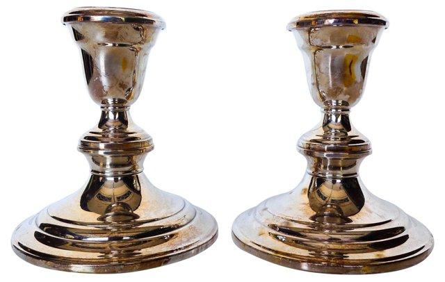 Gorham Silverplate Candlesticks, Pair