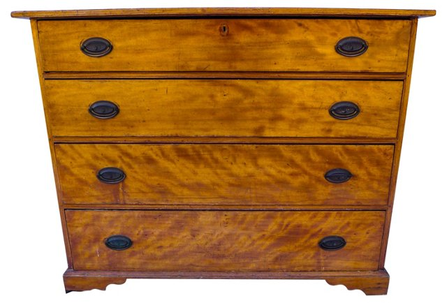 Early-19th-C. Birch Chest