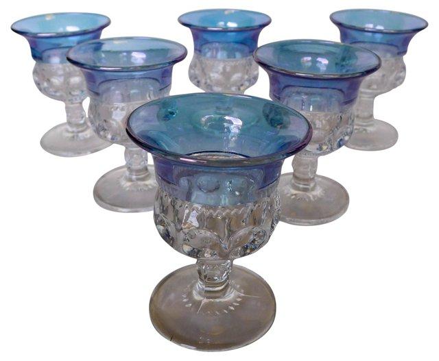 Blue Kings Crown Cordials, S/6