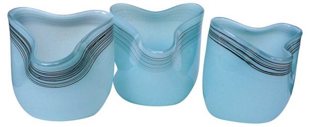 Midcentury  Countertop Jars, S/3