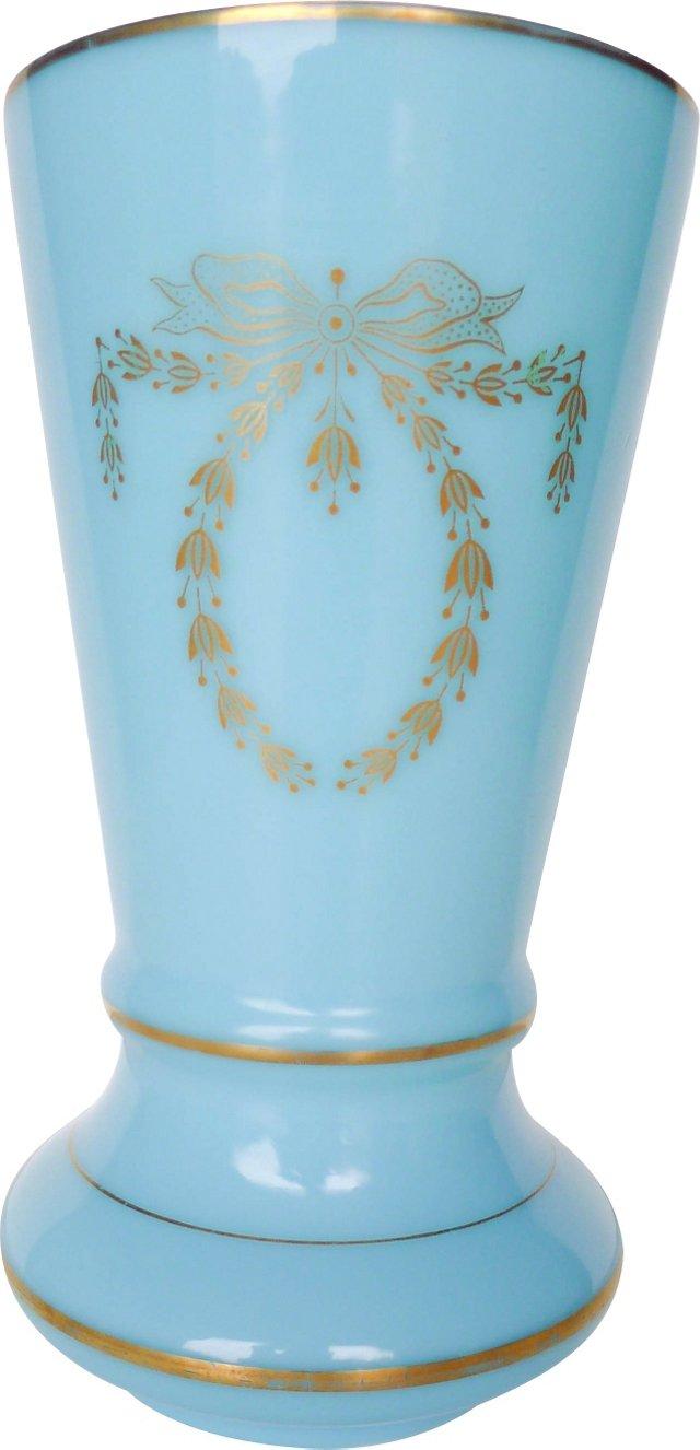 French Opaline Glass Vase