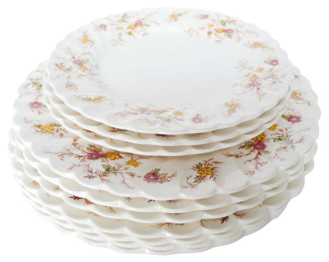 Myott Porcelain Plates, Set of 10