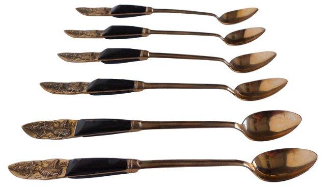 Siamese Iced Tea Spoons, S/6
