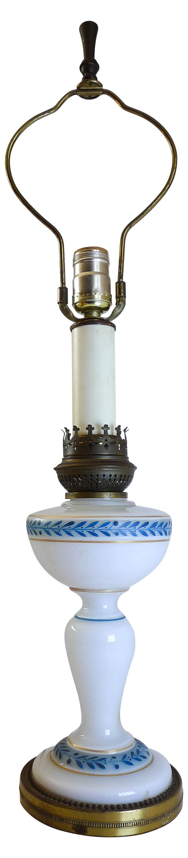 Antique Blue & White Lamp