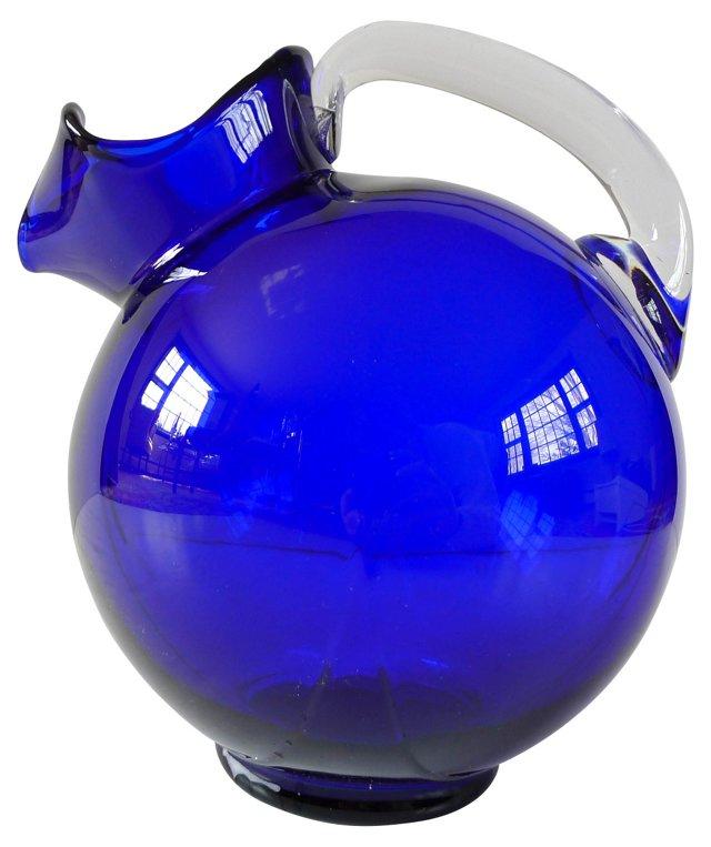 Cobalt Water Pitcher