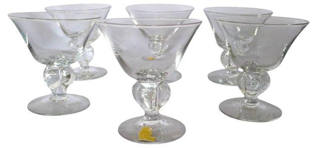Swedish Apertif Crystal Glasses, S/6