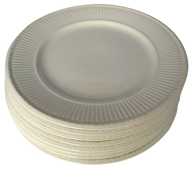 Porcelain Dinner Chargers, S/8