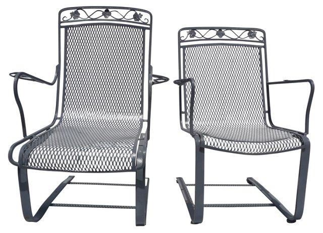 Flex Deck Chairs, Pair