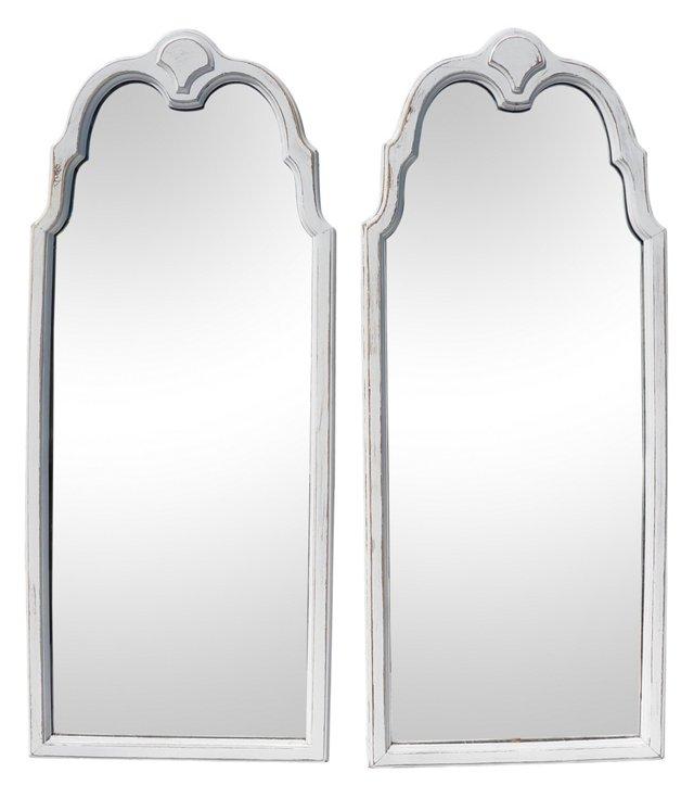 Lane Mahogany Mirrors, Pair