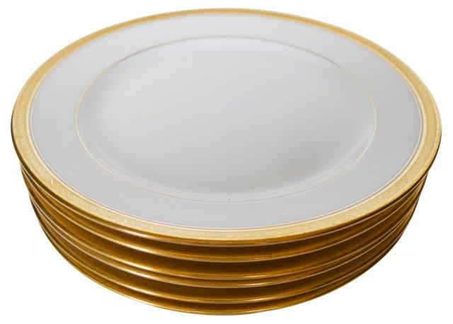 French Limoges Dessert Plates, S/6