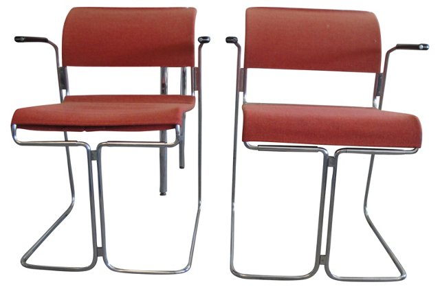 Armchairs by Harter, Pair