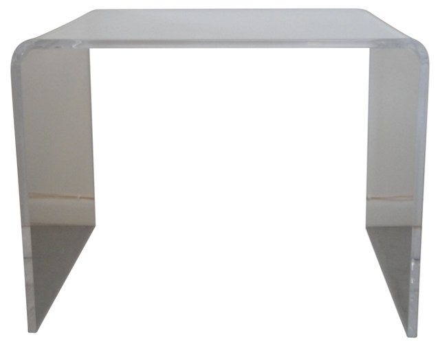 Lucite Waterfall Accent Table