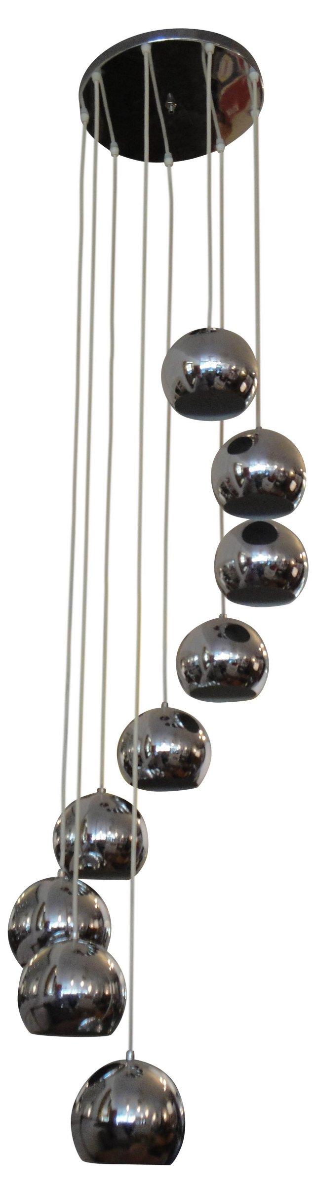 9-Globe Chandelier
