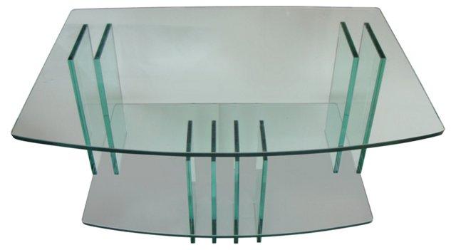 2-Tier  Glass Console