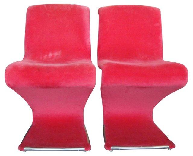 Rima Linea Chairs, Pair