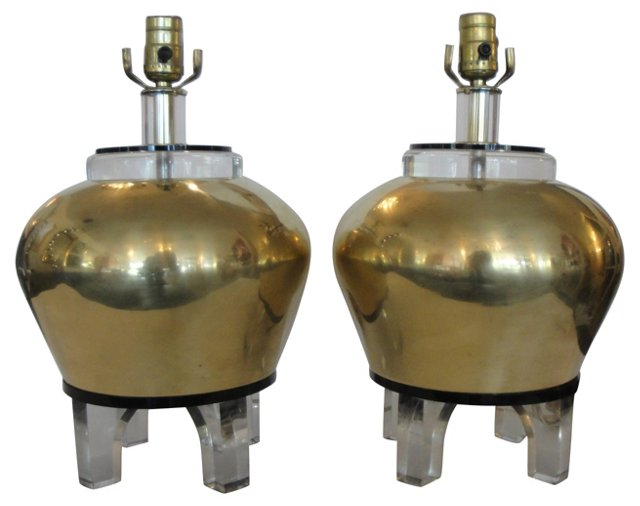 Bauer Lamps, Pair