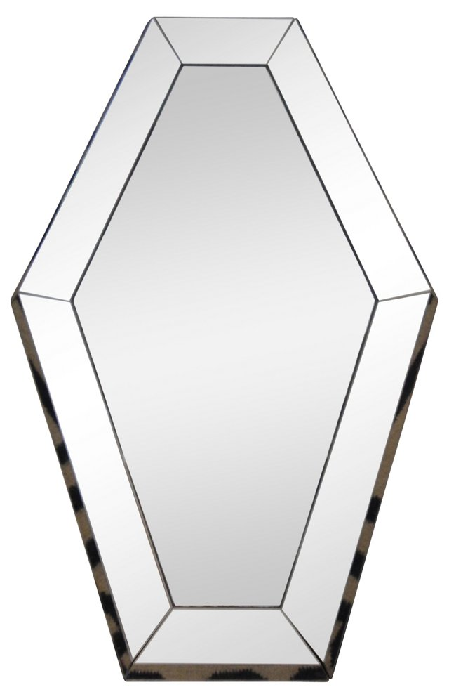 Hexagonal Mirror w/ Lucite Frame