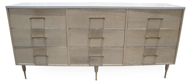 Wood & Laminate 9-Drawer Dresser