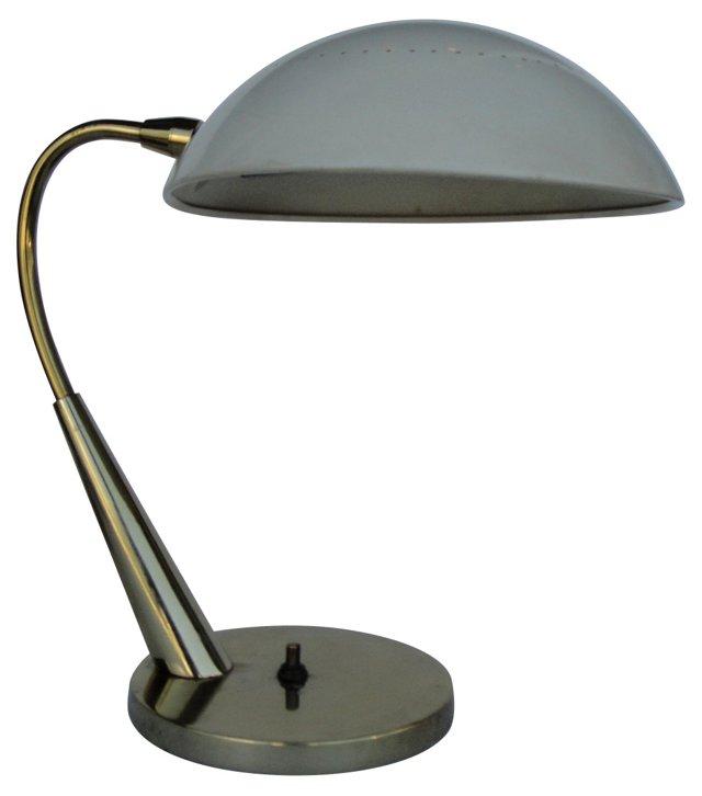 Brass & Enamel Laurel Desk Lamp