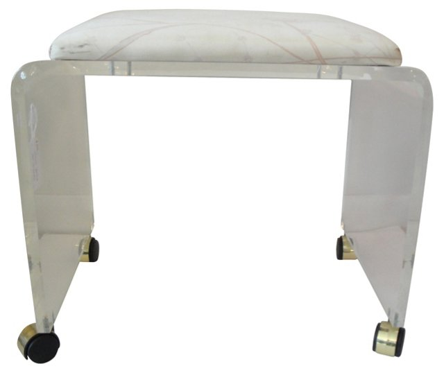 Lucite Bench     w/ Cushion
