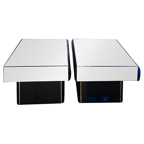 Geometric Side Tables, S/2