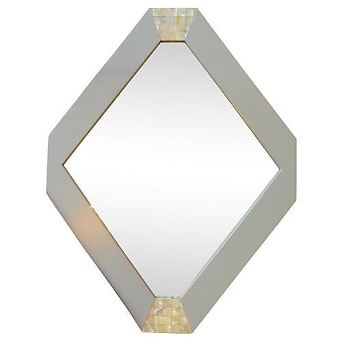 Hexagonal Mother-of-Pearl Mirror