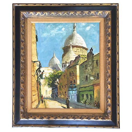 Midcentury Street View, Signed