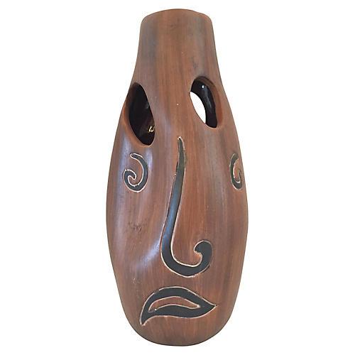 Three-Faces Mexican Vase
