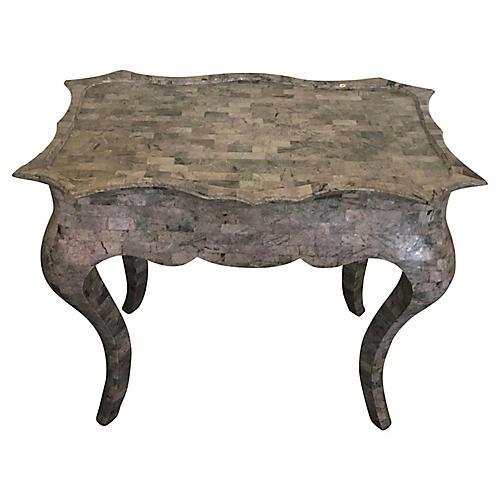 Tesselated Stone Accent Table