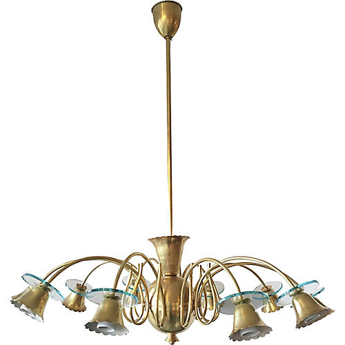 Italian 10-Light Chandelier