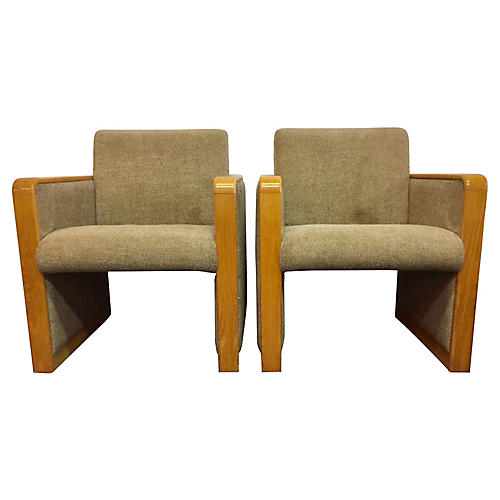 Midcentury Accent Chairs, Pair