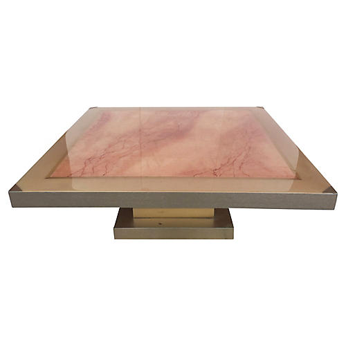 Faux-Marble Coffee Table