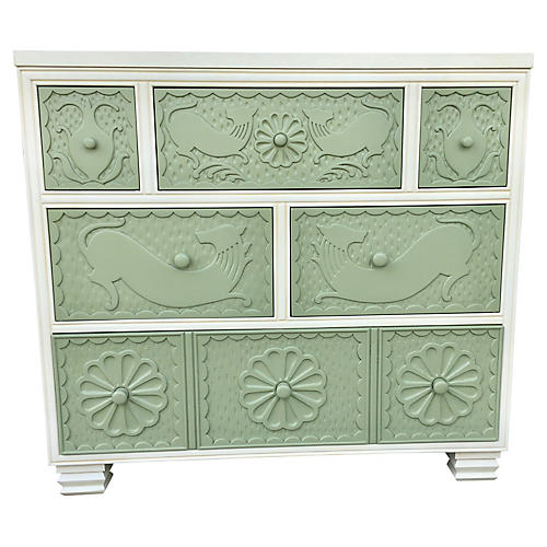 Hickory Chair Six Drawer Dresser