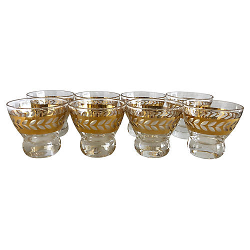Midcentury Liquor Glasses, S/8