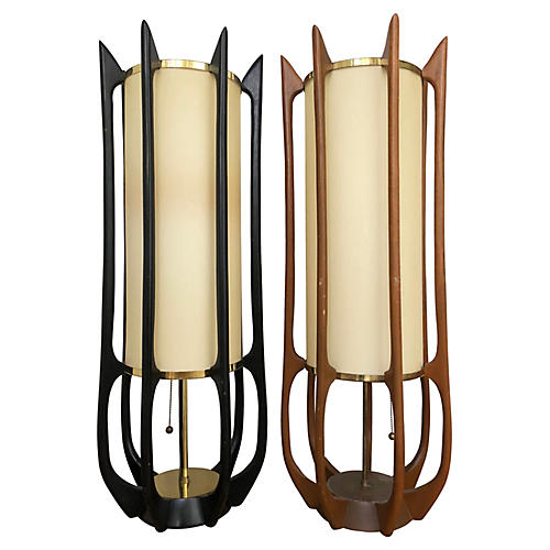 Adrian Pearsall Table Lamps, S/2