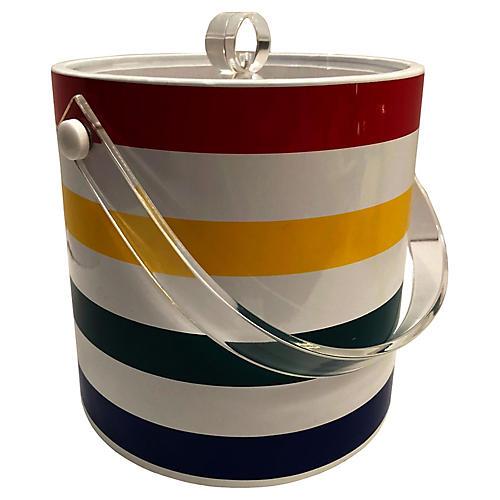 Striped Ice Bucket