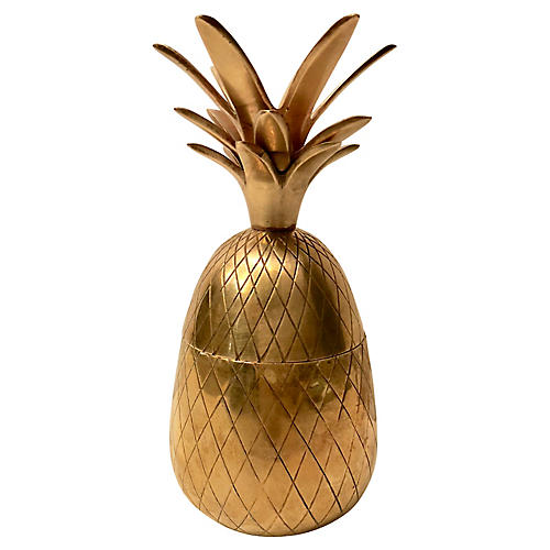 Brass Pineapple Container