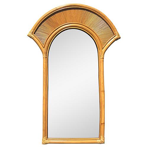 Vintage Bamboo Framed Mirror